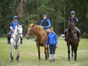 Tiny with a Pony Club group at Herringswell
