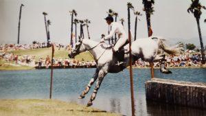 Tiny Clapham at the Los Angeles Olympics